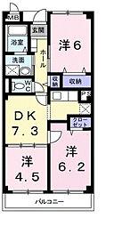 メゾン・ソレアード[1階]の間取り