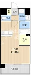 LUMIUS南熊本 7階ワンルームの間取り