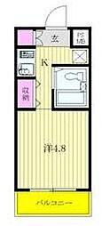 神奈川県相模原市中央区富士見3丁目の賃貸マンションの間取り