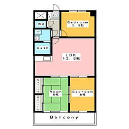 フローレンス三河安城[7階]の間取り