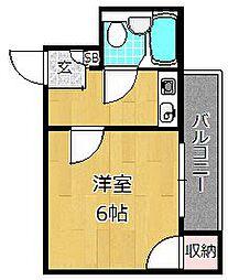 JPアパートメント枚方[3階]の間取り