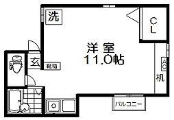 東京都練馬区北町7丁目の賃貸アパートの間取り