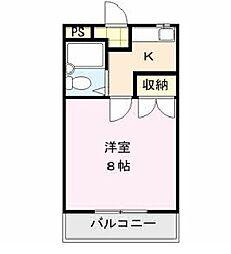 ファーストインK1[2階]の間取り