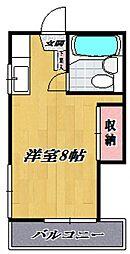 コーポホダカ[205号室号室]の間取り
