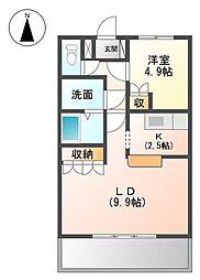 静岡県伊豆市修善寺の賃貸アパートの間取り