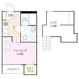 アパートメント友丘[1階]の間取り