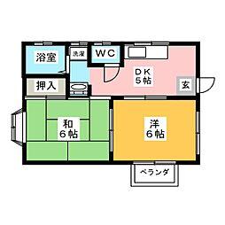 山本コーホーハイツ[1階]の間取り