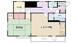 大野台5丁目アパート[2号室]の間取り