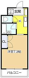 東京都東村山市栄町1丁目の賃貸マンションの間取り