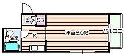 エミネントヤナセ[4階]の間取り