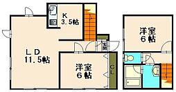 オータムシャトー1[1階]の間取り