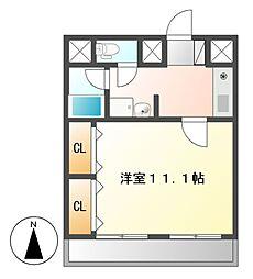 愛知県名古屋市中村区太閤4の賃貸マンションの間取り