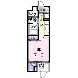 イーストブルー六番館[1階]の間取り