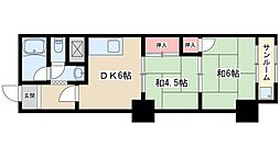Osaka Metro御堂筋線 新大阪駅 徒歩6分の賃貸マンション 2階2DKの間取り