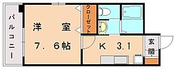 BBS古賀駅前[8階]の間取り