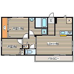 兵庫県神戸市長田区片山町2丁目の賃貸アパートの間取り