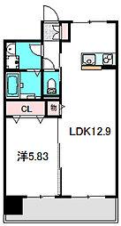 Osaka Metro谷町線 大日駅 徒歩5分の賃貸マンション 3階1LDKの間取り