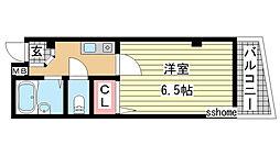 兵庫県神戸市東灘区住吉宮町3の賃貸マンションの間取り