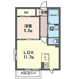 仮称 見川町シャーメゾン A[1階]の間取り