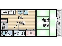 シェリール茨木2[1階]の間取り