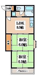 大阪府大阪市生野区巽南1丁目の賃貸マンションの間取り