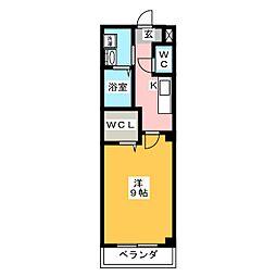 メゾンフィオーレII[1階]の間取り