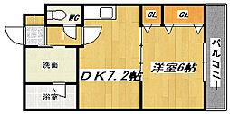 シャンヴィオレ[1階]の間取り