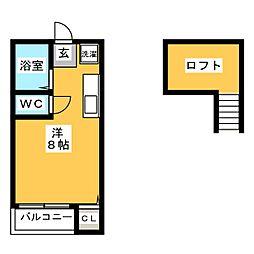 ソフィー箱崎[2階]の間取り