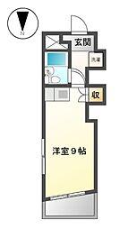 シティハウス21[1階]の間取り