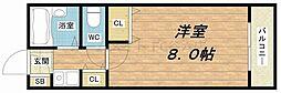 大阪府大阪市中央区中寺1丁目の賃貸マンションの間取り