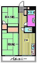 ビレッジハウス柳崎タワー[510号室]の間取り