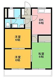 メゾン千塚[201号室]の間取り