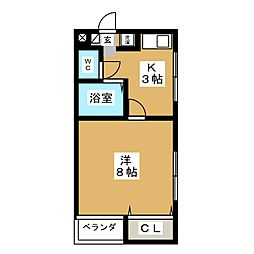 アビニヨン千種[3階]の間取り