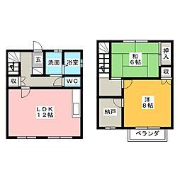 [テラスハウス] 愛知県名古屋市中川区上脇町1丁目 の賃貸【/】の間取り