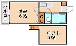 ハイトレジュリーIII[2階]の間取り