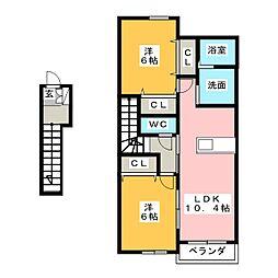 インプレスKM A[2階]の間取り