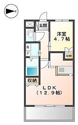 篠山市字土新築[1階]の間取り