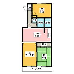ピュア五反田[1階]の間取り