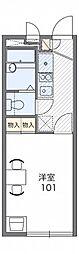 レオパレスHOOP 小机[2階]の間取り