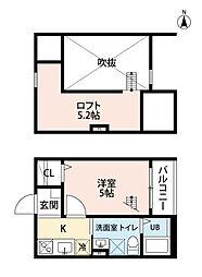 愛知県名古屋市西区万代町の賃貸アパートの間取り