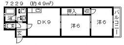 JPアパートメント藤井寺2[303号室号室]の間取り