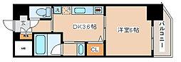 神戸高速東西線 新開地駅 徒歩1分の賃貸マンション 4階1Kの間取り