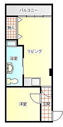 ペガサス富士[7階]の間取り