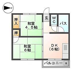 桜通コーポ[3階]の間取り