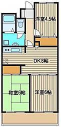 東京都練馬区大泉町6の賃貸マンションの間取り
