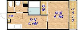 エスポワール関目[2階]の間取り