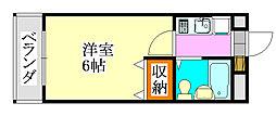 シティクレスト津田沼[202号室]の間取り
