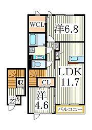 シエルツリーI[2階]の間取り