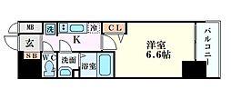 Osaka Metro中央線 阿波座駅 徒歩5分の賃貸マンション 2階1Kの間取り