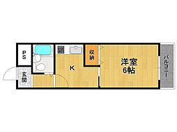メゾンパストラル[2階]の間取り